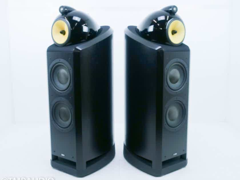 B&W Nautilus 802 Floorstanding Speakers Black Ash Pair (13865)