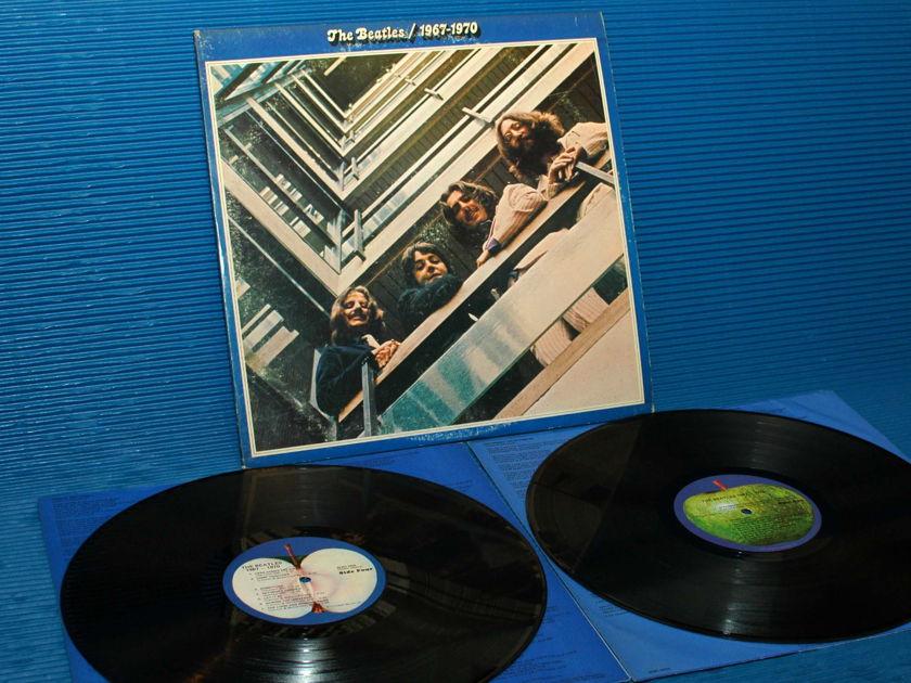 """THE BEATLES  - """"Blue Album 67-70"""" -  Apple 1973 'blue labels' Original"""