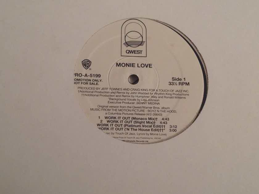 Monie Love Work It Out QWest Records Promo 12 Inch EP 7 Versions