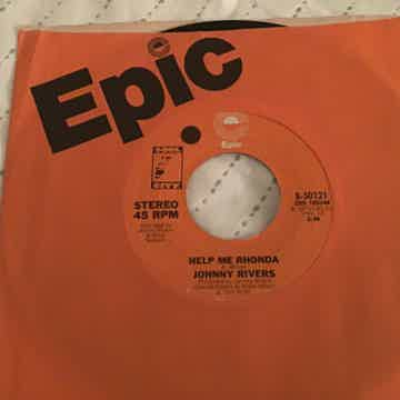 Johnny Rivers Help Me Rhonda 45  NM Epic Records