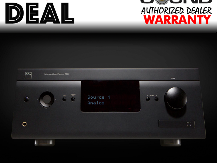 NAD T758V3 W/ MANUFACTURERS WARRANTY - AUTHORIZED DEALER | T 758 V3