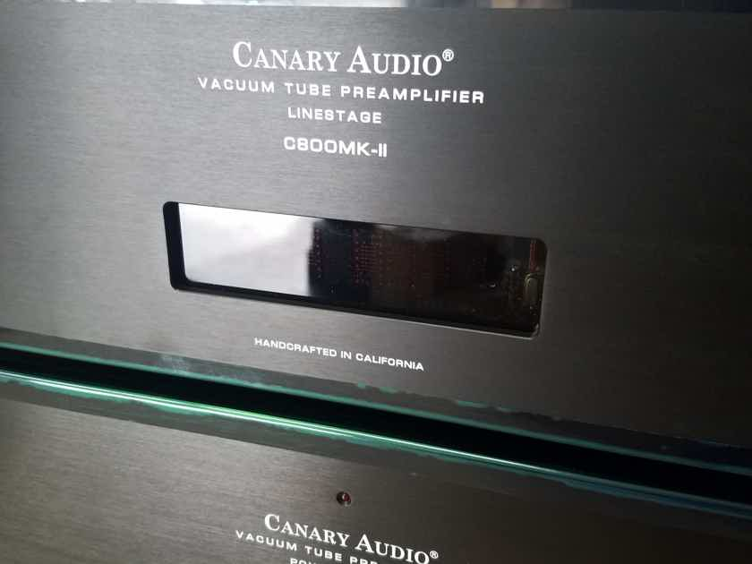 Canary Audio C800MK-II two chassis tube preamplifier