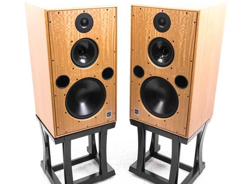 Harbeth M40.1 Stand-Mounted Loudspeakers; Custom Stands; Eucalyptus; 3-way (21902)