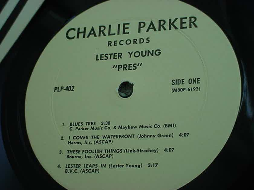 JAZZ Lester Young  - PRES LP Record Charlie Parker records plp-402