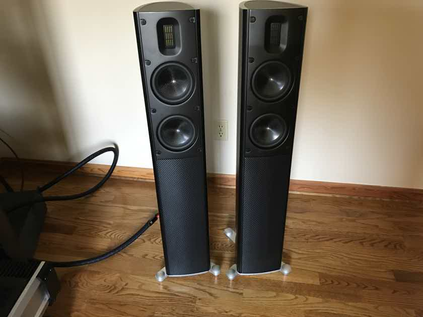 Scansonic MB2.5 New Black ribbon speakers
