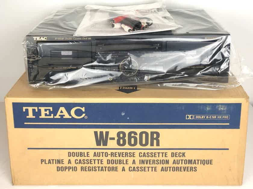 TEAC W-860R Double Auto-Reverse w/ Pitch Control Cassette Deck Player Recorder w/ Org. Packing Box MINT!!