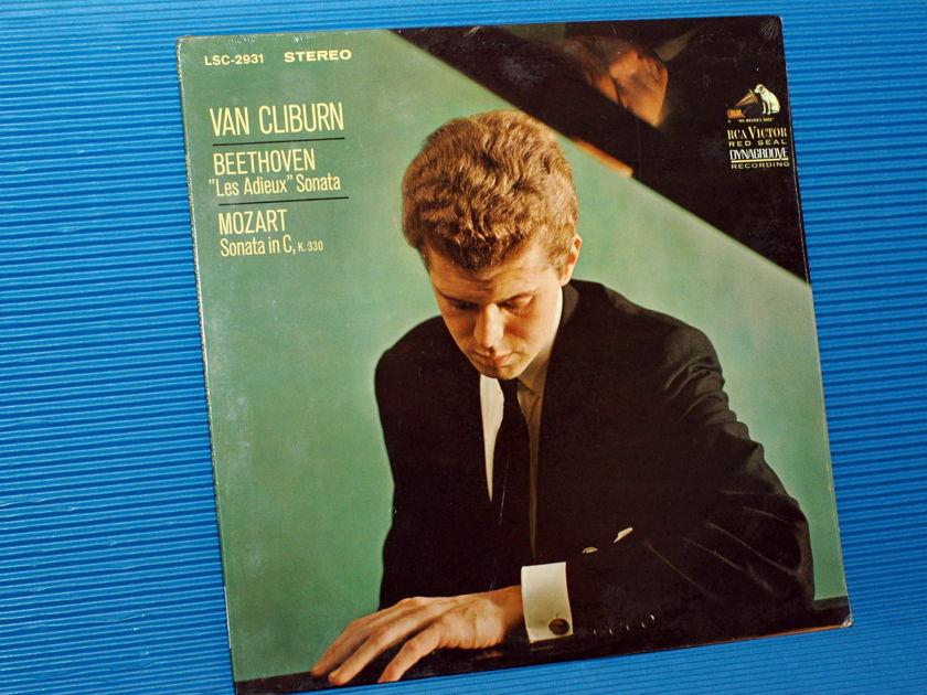 """BEETHOVEN / Cliburn  - """"Les Adieux Sonata"""" -  RCA 1966 unplayed 'White Dog' Promo!"""