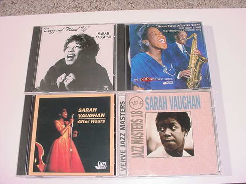 Sarah Vaughan lot of 4 cd's cd - jazz MASTERS 18 & After hours  & TOWN HALL Lester Young & Pablo crazy and mixed up