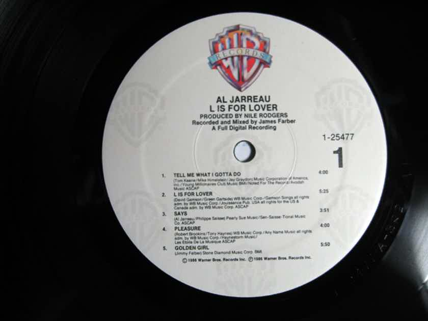 Al Jarreau - L Is For Lover - Rob Ludwig MASTERDISK 1986 Warner Records 9 25477-1