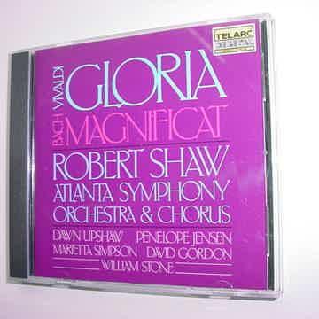 TELARC DIGITAL CD Robert Shaw Vivaldi Gloria Bach Magni...