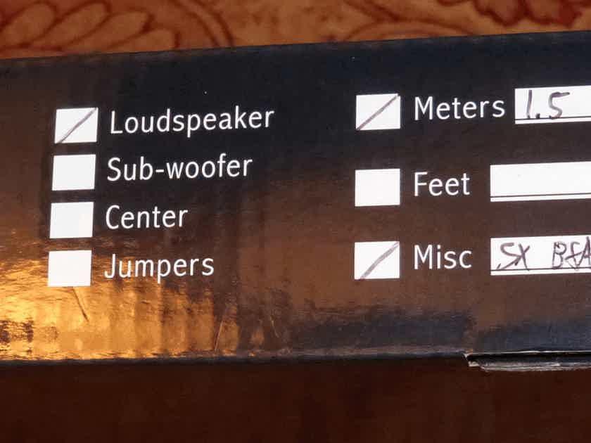 Audience AU24-SX Speaker Cables 1.5m Banana