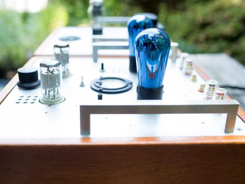 71a C3m Single Ended SET tube amp by Radu Tarta with Tamradio transformers and blue Arcturus globes