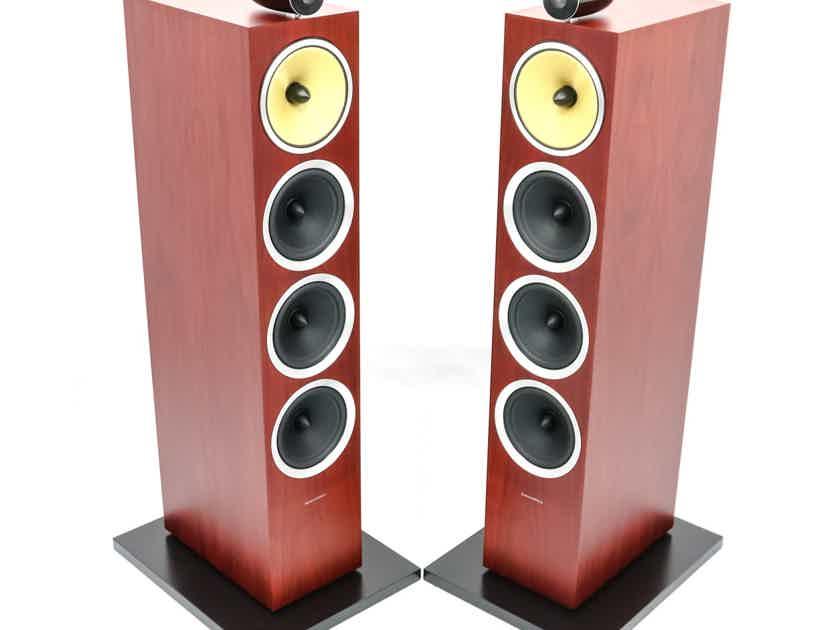 B&W CM10 S2 Floorstanding Speakers; Rosenut Pair; CM-10 (28583)