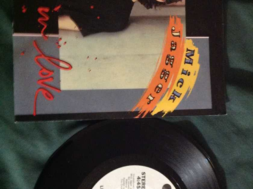 Mick Jagger - Lucky In Love Columbia Records Promo 45 Single  With Picture Sleeve NM