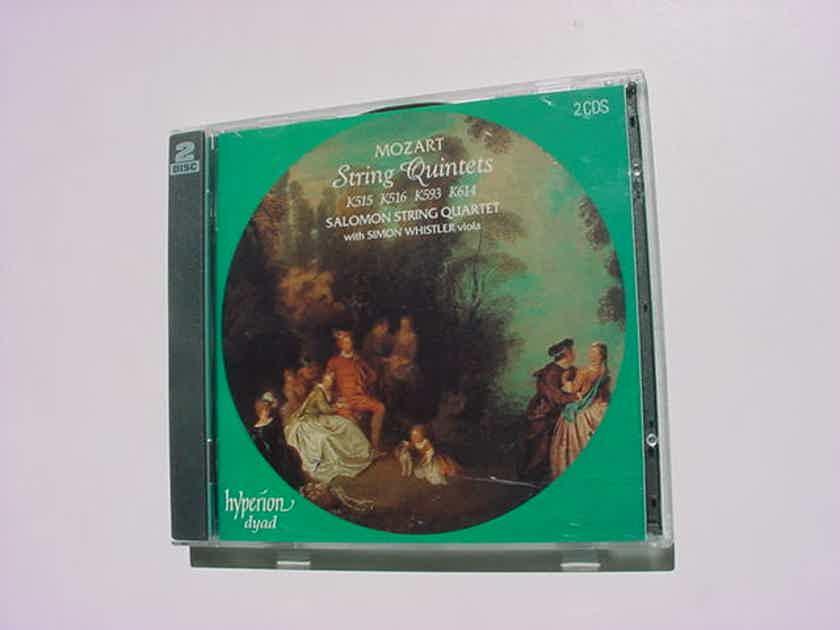 2 CD SET Mozart string quintets k515 516 593 614 Salmon Quartet Simon Whistler viola