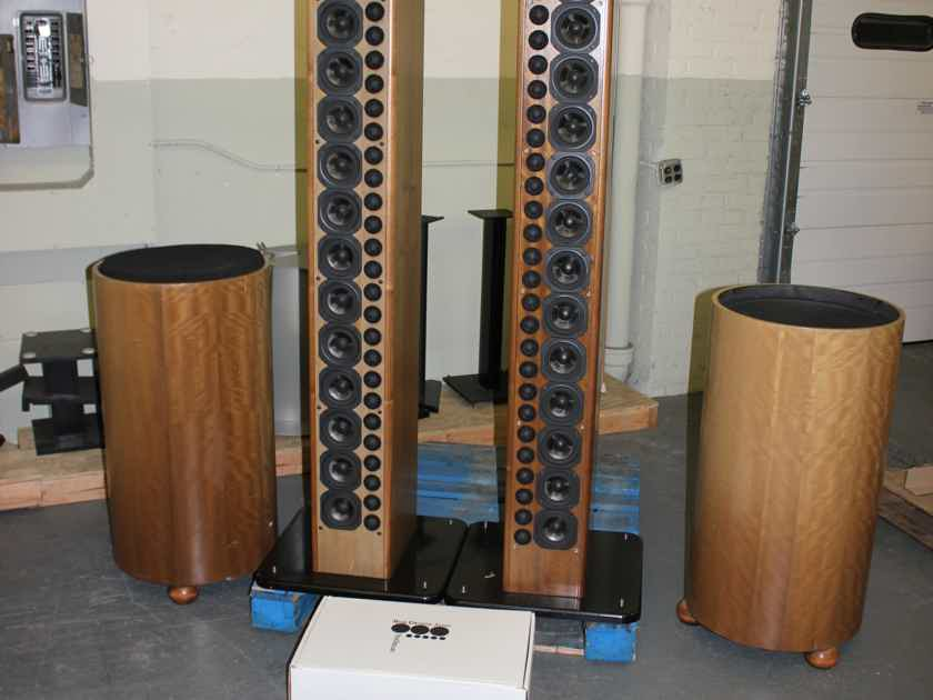 Nearfield Acoustics Pipedreams Loudspeakers with Subwoofers and Crossover / For a project or parts