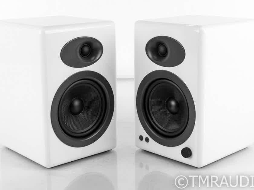 AudioEngine A5+ Powered Bookshelf Speakers; White Pair (21376)