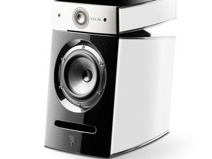 Focal Diablo Utopia III Bookshelf Speakers Carrara White Lacquer Pair (New) (15708)