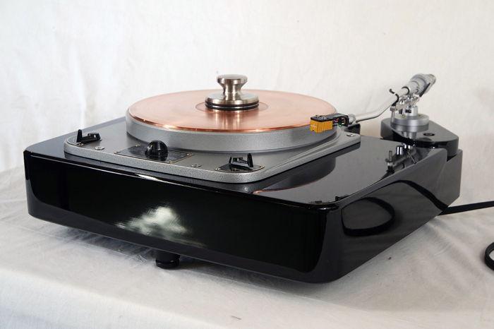 "Garrard 301 Turntable with Panzerholz Plinth, Denon 308 12"" Tonearm and Galileo SX Phono Cable"
