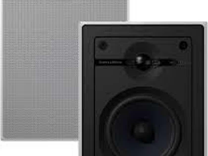 B&W CWM652 In Wall Speaker; Single; White (New) (26294)