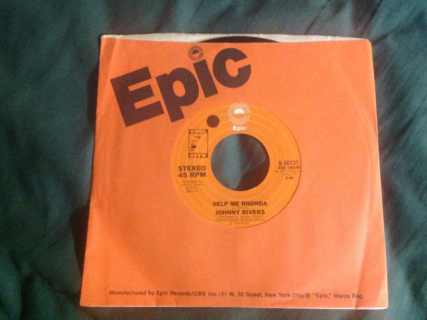 Johnny Rivers - Help Me Rhonda Brian Wilson 45 NM