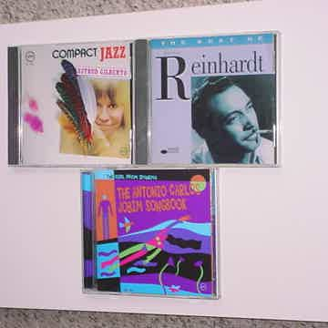 JAZZ CD Lot of 3 CD'S Dijango Reinhardt Carlos Jobim Astrud Gilberto