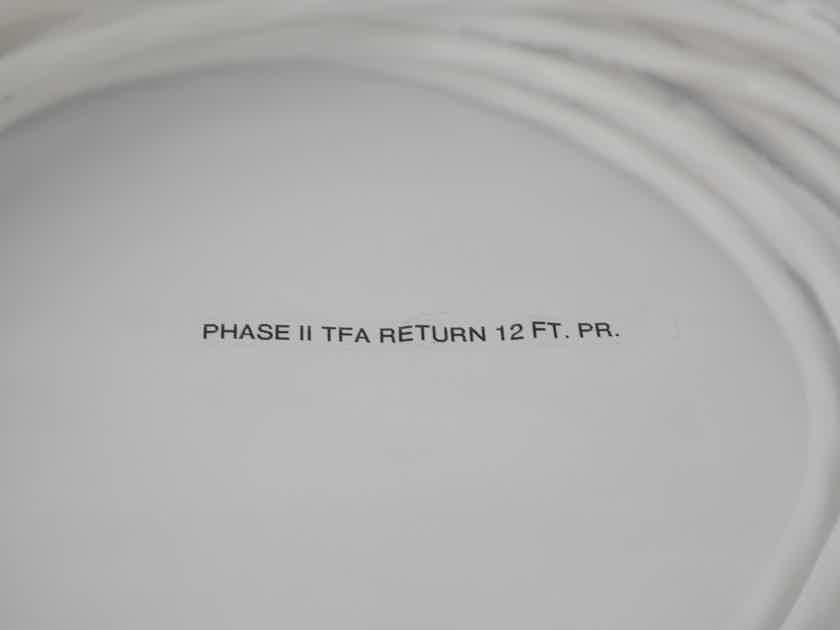 NOS TARA Labs Space & Time Phase II TFA Speaker Cable 12 Foot Factory Terminated