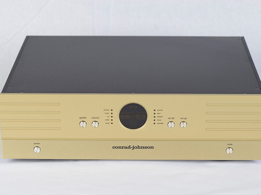 Conrad Johnson ET5 Enhanced Triode Preamplifier w/ matching Metal Remote - CJ Champagne Gold Finish