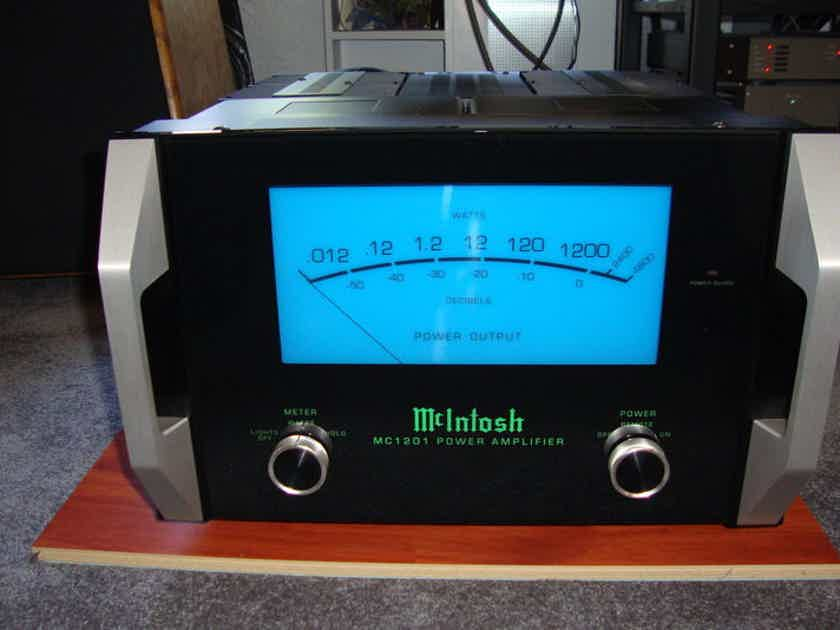 McIntosh MC1201SE Pair of amps with new handles and LED lights