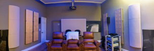 Media Room Rear (Premiere Lonestar HT Seating; RPG BAD Absorber; ASC Picture Panel