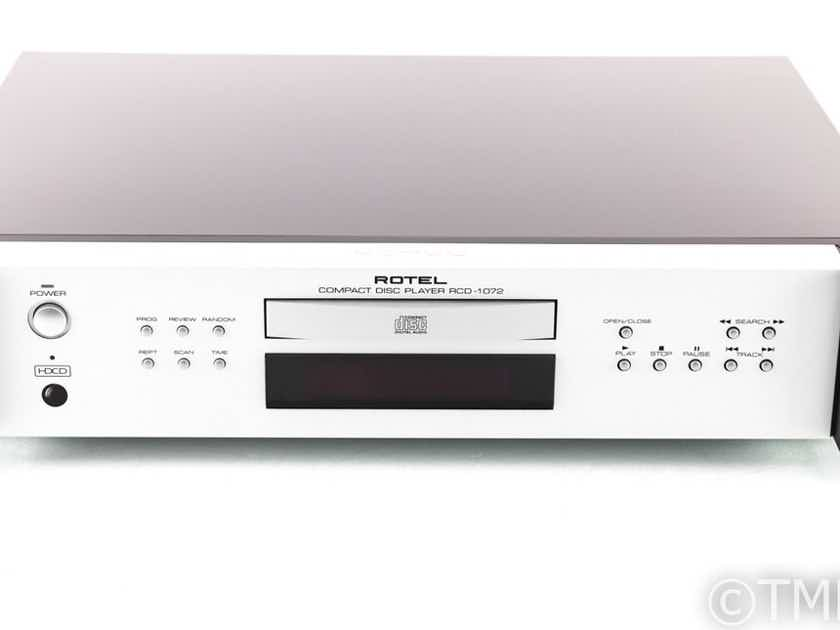 Rotel RCD-1072 CD Player; RCD1072; Silver; Remote (28414)