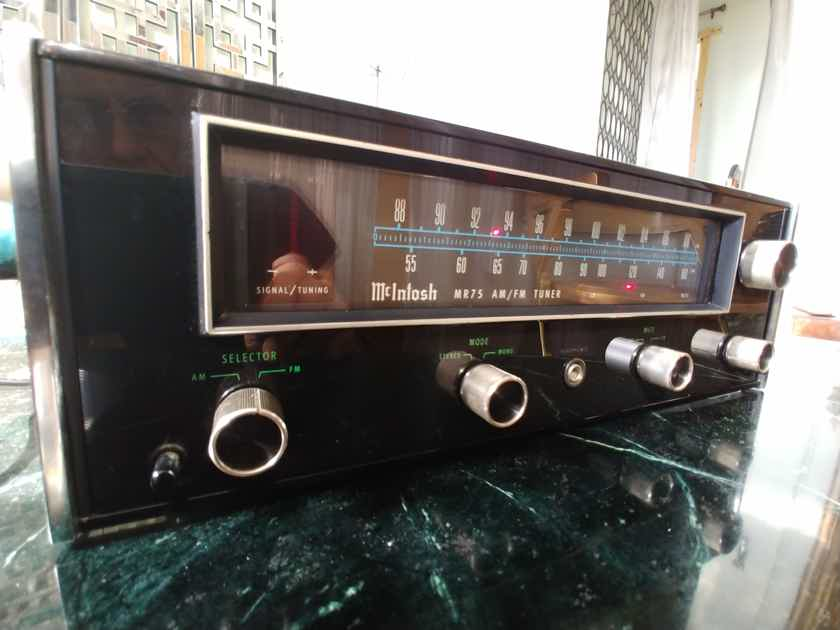 McIntosh MR-75 Tuner New Glass, Caps & Lamps ! LOWER $$