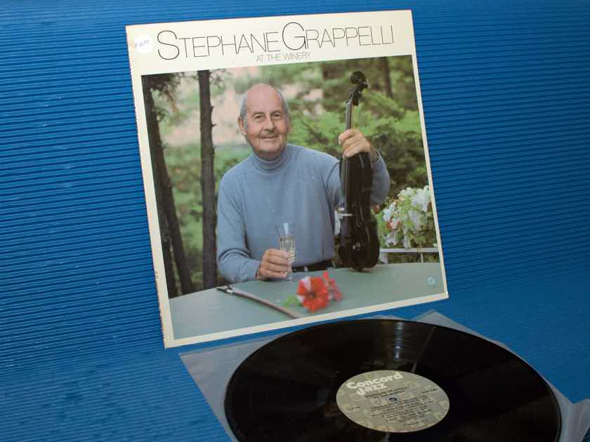 """STEPHANE GRAPPELLI   - """"At the Winery"""" -  Concord Jazz 1981"""
