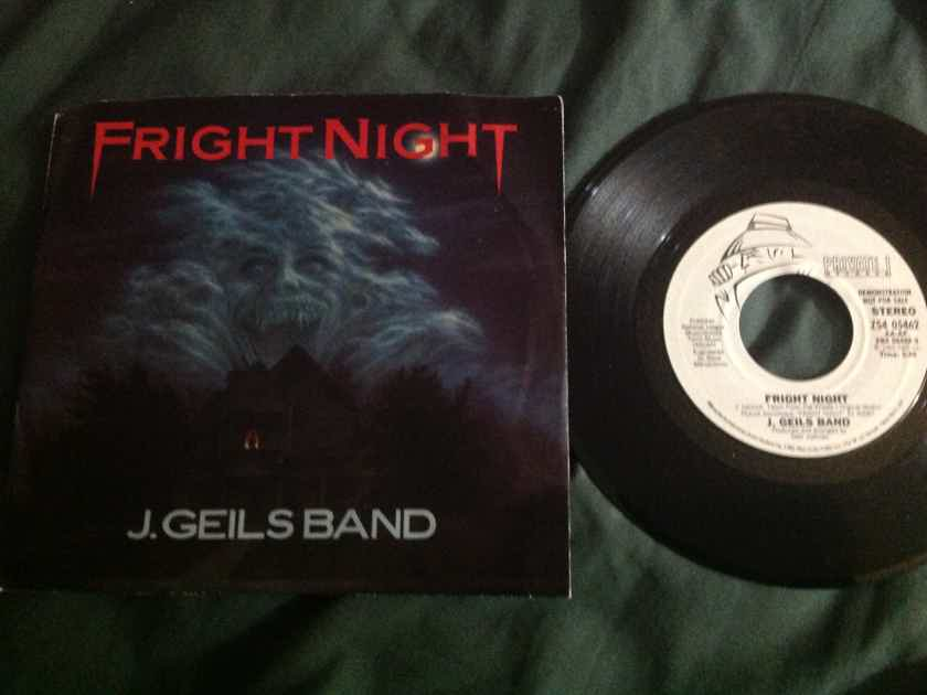 J. Geils Band - Fright Night Private Records Promo 45 Single With Picture  Sleeve NM