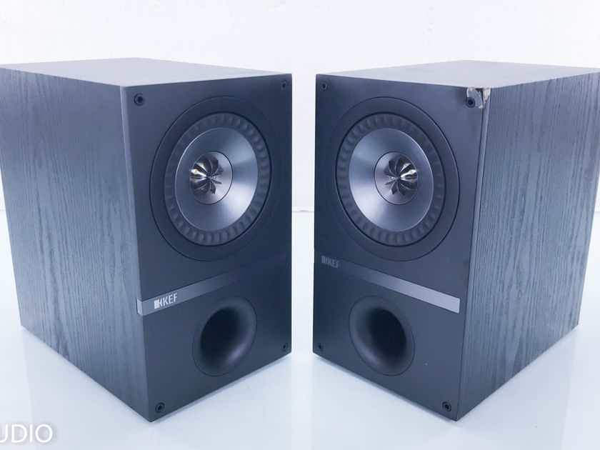 KEF Q100 Bookshelf Speakers Black Oak Pair; Q-100 (14177)