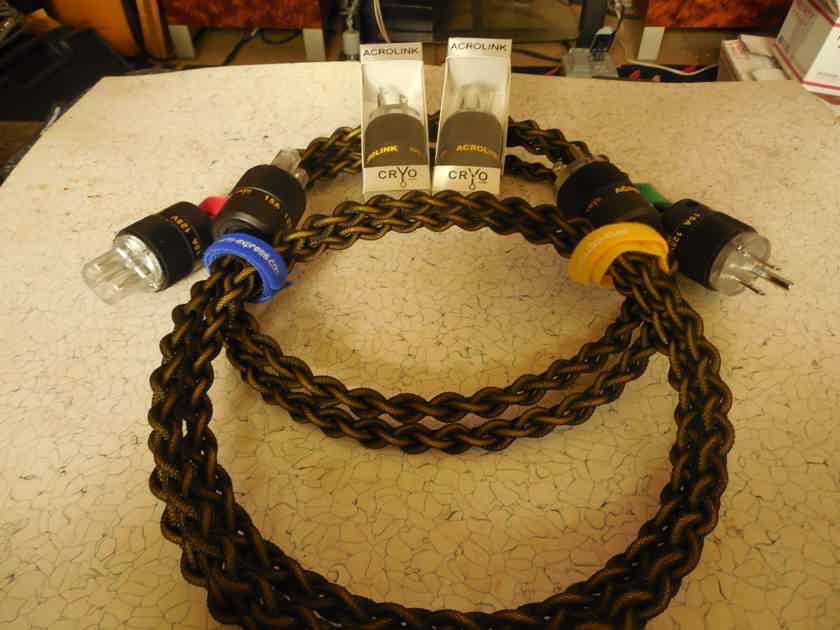 Black Shadow SILVER/RHODIUM 5' Power Cord