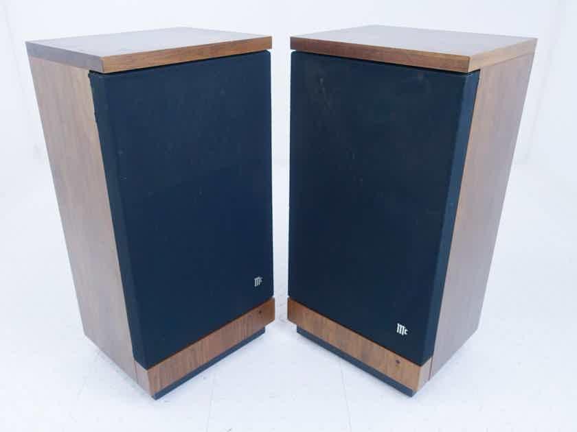 McIntosh XR5 Vintage Floorstanding Speakers; XR-5; Walnut Pair; AS-IS (Need New Surrounds) (15998)