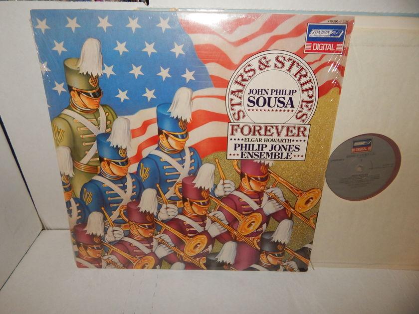 "SOUSA MARCHES Elgar Howarth - PHILIP JONES ENSEMBLE ""Stars & Stripes"" London Digital Holland Import LP NM"