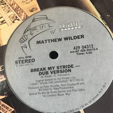 Matthew Wilder  brake my stride