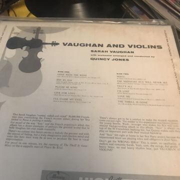 Vaughan and Violins SARAH VAUGHAN Vaughan and Violins SARAH VAUGHAN
