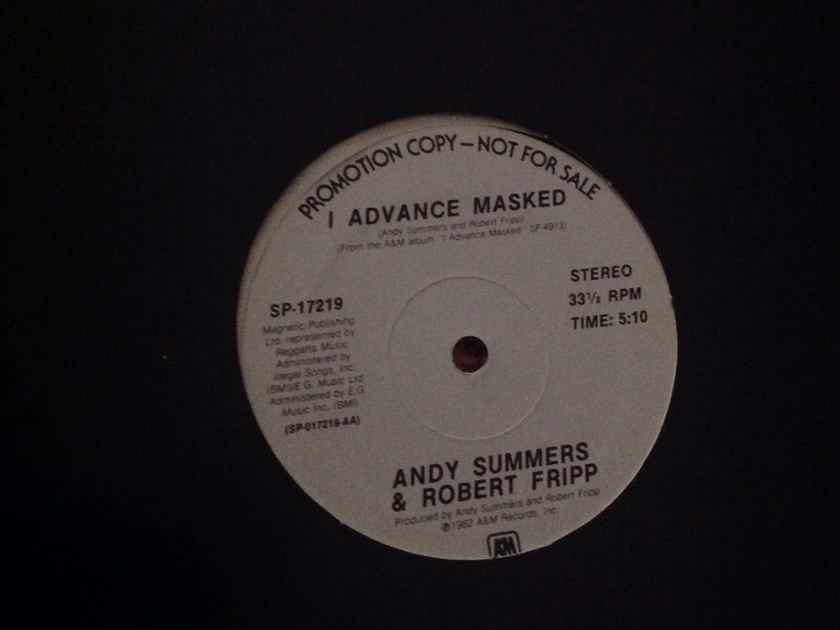 Robert Fripp Andy Summers - I Advanced Mask A & M Records 12 Inch Single Vinyl NM