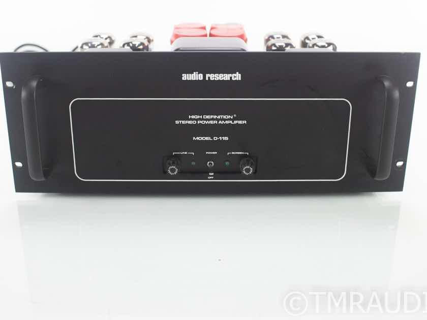Audio Research D-115 Vintage Stereo Tube Power Amplifier (18391)