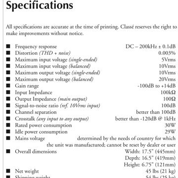 Classe Audio SSP-600