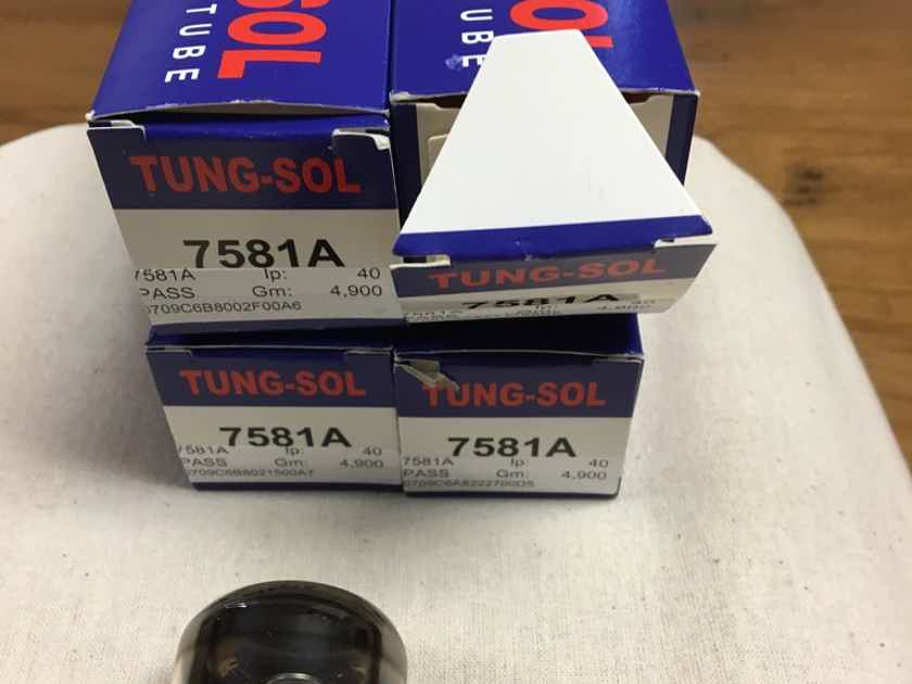 Tung-Sol Tubes 7581A Quad