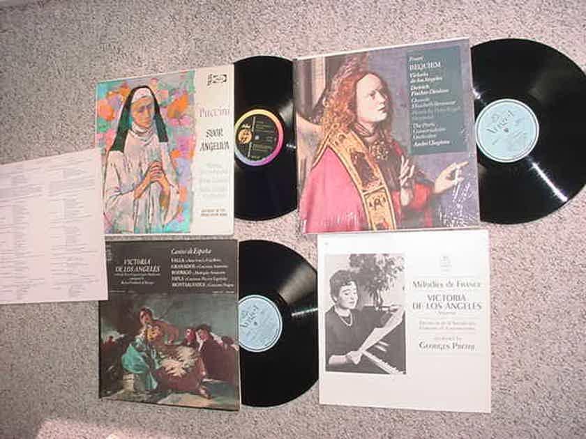 Victoria De Los Angeles lot of 3 lp records - PUCCINI Suor Angelica Faure Requiem Cantos de Espana
