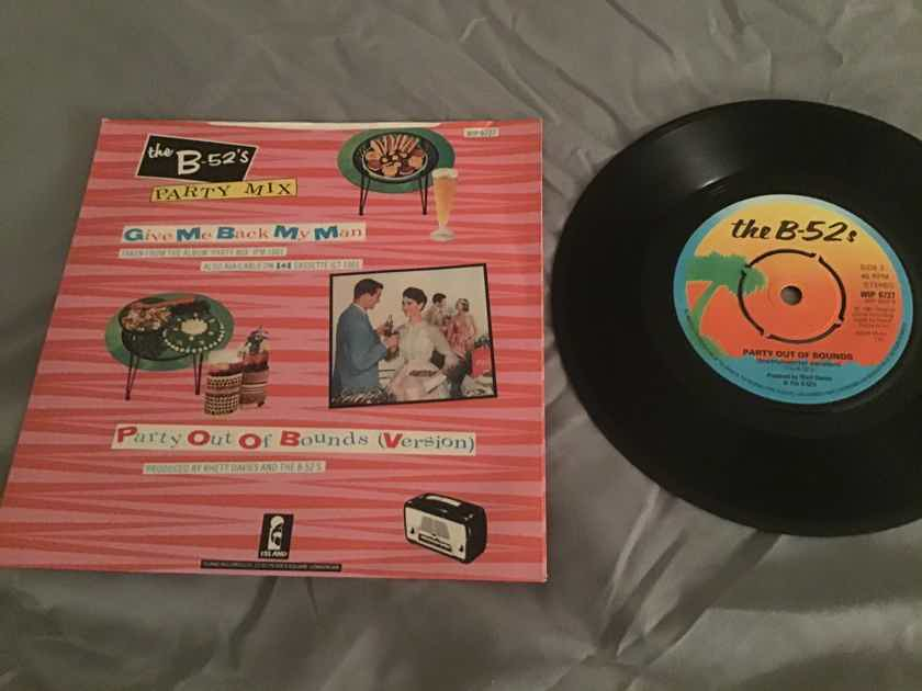 The B-52's Import 45 With Picture Sleeve Vinyl NM  Give Me Back My Man