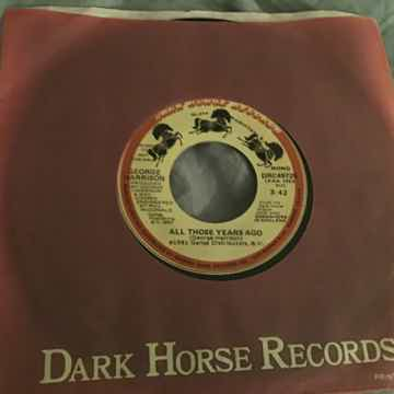 George Harrison Promo Mono/Stereo 45 With Picture Sleev...