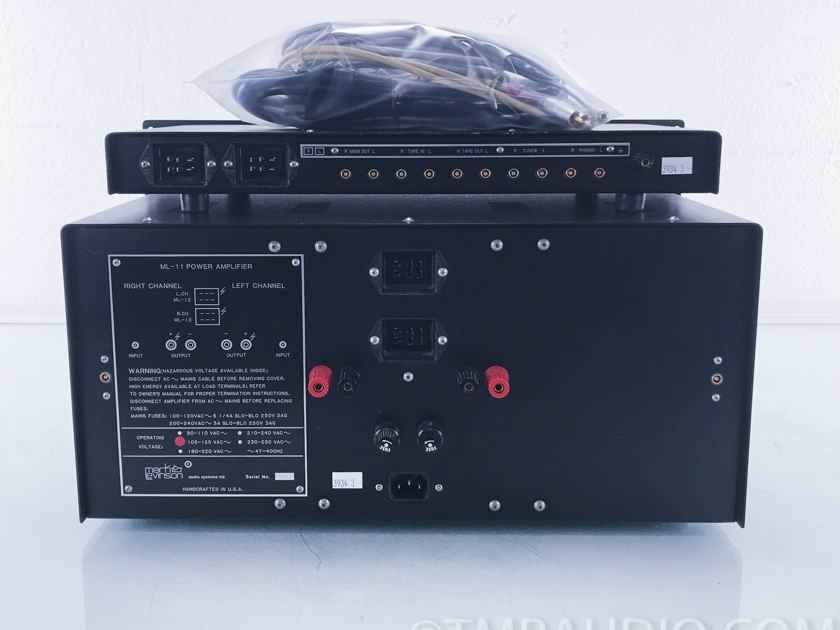 Mark Levinson ML-11 Amplifier & ML-12 Preamplifier w/Phono (3934)