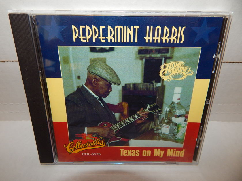 PEPPERMINT HARRIS Texas On My Mind - Collectible COL 5575 RARE 1995 Homecooking Records Promo Blues CD