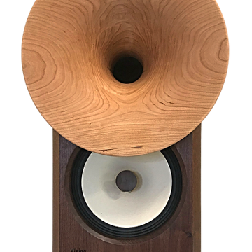 Choose upgraded woofer with unique horn flared wood phase-plugs